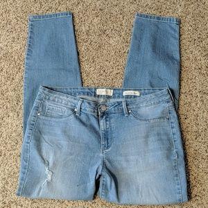 Jessica Simpson distressed super skinny jeans